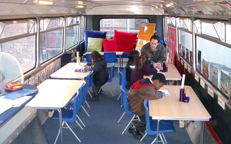 Modular Classroom Hire ~ Bus conversions london promotions